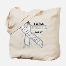 I Wear White for my Husband Tote Bag
