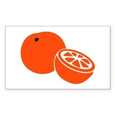 Orange Rectangle Sticker 10 pk)