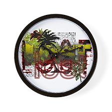 Lost Jungle Grunge Wall Clock