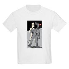 Moon Golfer  Kids T-Shirt