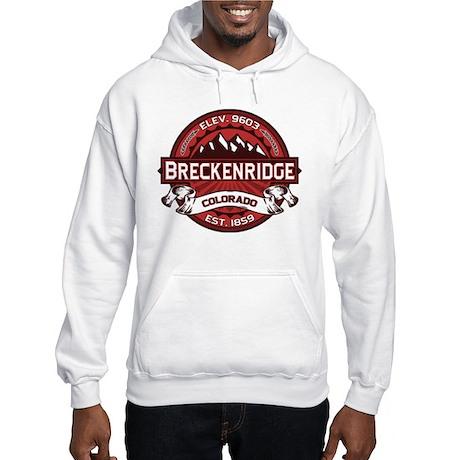 Breckenridge Red Hooded Sweatshirt