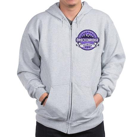 Breckenridge Purple Zip Hoodie