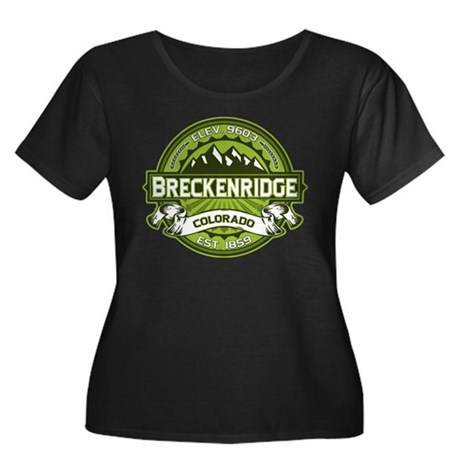 Breckenridge Green Women's Plus Size Scoop Neck Da