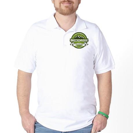 Breckenridge Green Golf Shirt