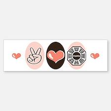 Peace Love Lost Bumper Bumper Bumper Sticker