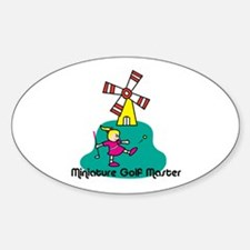 Miniature Golf Oval Decal