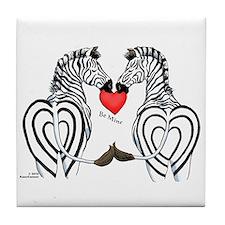 Zebra Valentine Tile Coaster