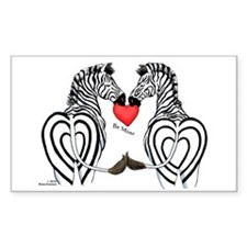 Zebra Valentine Rectangle Decal