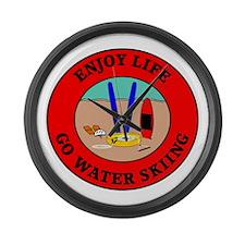 Enjoy Life Go Water Skiing Large Wall Clock