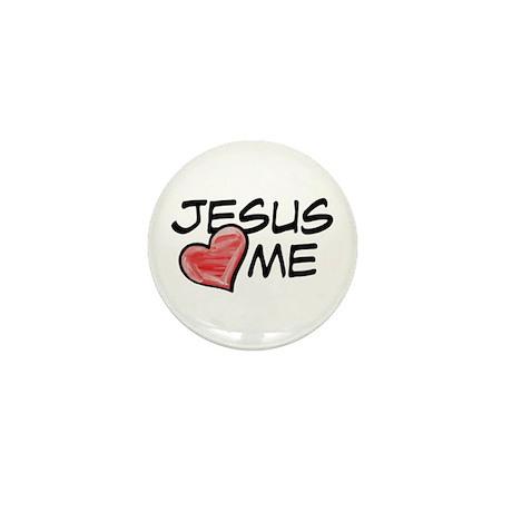 Jesus Loves Me Mini Button (10 pack)