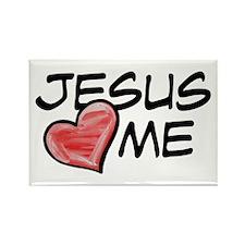 Jesus Loves Me Rectangle Magnet (10 pack)