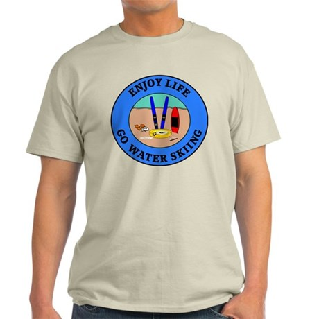 Enjoy Life Go Water Skiing Light T-Shirt