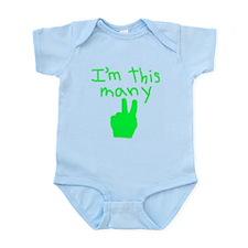 I'm This Many 2 Infant Bodysuit