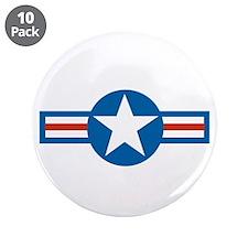 """Cute Air force 3.5"""" Button (10 pack)"""
