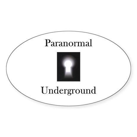 Paranormal Underground Oval Sticker (10 pk)