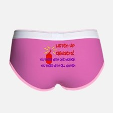 Message To Abusers Women's Boy Brief
