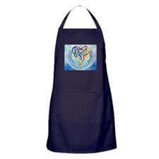 Dolphin & Celtic Knot Heart Valentine Apron (d