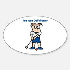 Pee Wee Golf Master Oval Decal