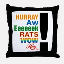 Interjections! Throw Pillow