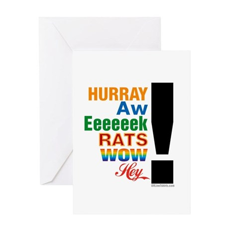 Interjections! Greeting Card