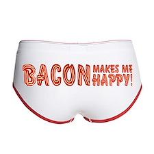 Bacon Makes Me Happy Women's Boy Brief