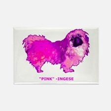 "Pekingese in "" Hot Pink"" Rectangle Magnet"