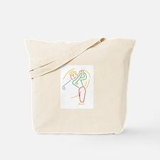 Golfer Design Tote Bag