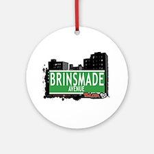 Brinsmade Av, Bronx, NYC Ornament (Round)