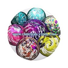 CrazyUglyCool Marbles Ornament (Round)