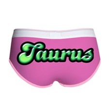 Retro Zodiac Taurus Women's Boy Brief