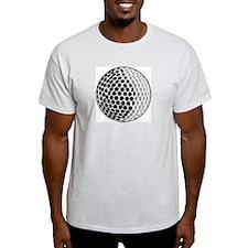 Golf Ball  Ash Grey T-Shirt