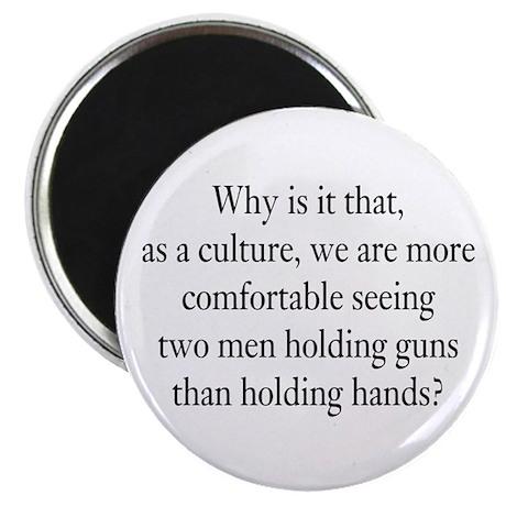 Men holding hands Magnet