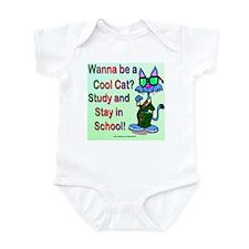 School Cat Infant Creeper