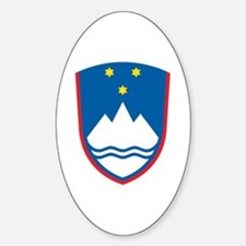 Slovenia Coat of Arms Oval Decal