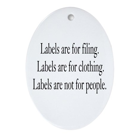 Labels Oval Ornament
