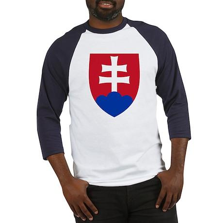 Slovakia Coat of Arms (Front) Baseball Jersey