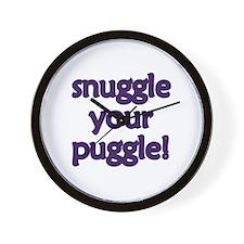 Snuggle Your Puggle Wall Clock