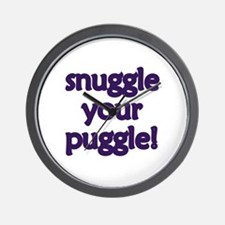 Snuggle Your Puggle Wall Clock