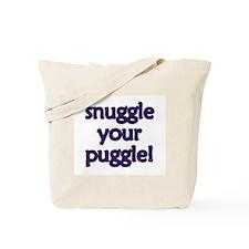 Snuggle Your Puggle Tote Bag