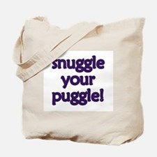 Snuggle Your Puggle Tote Bag