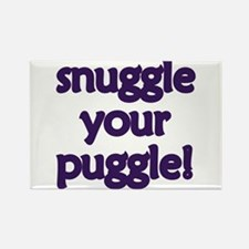 Snuggle Your Puggle Rectangle Magnet (100 pack)
