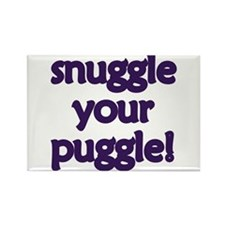 Snuggle Your Puggle Rectangle Magnet