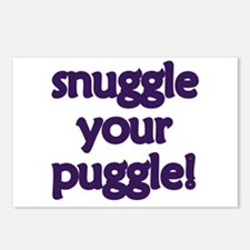 Snuggle Your Puggle Postcards (Package of 8)