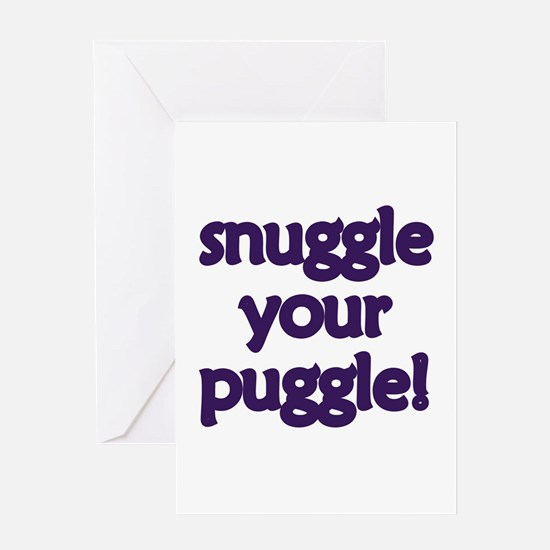 Snuggle Your Puggle Greeting Card