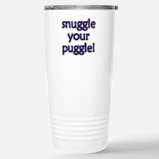 Snuggle Your Puggle Stainless Steel Travel Mug