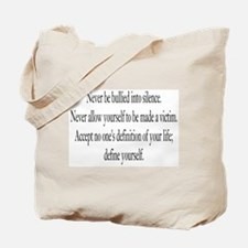 Define Yourself Tote Bag