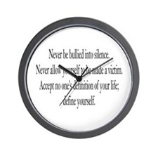 Define Yourself Wall Clock