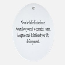 Define Yourself Oval Ornament