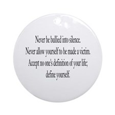 Define Yourself Ornament (Round)