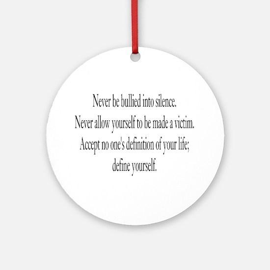 Define Yourself Ornament (Round)